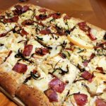 Apple, Bacon, and Gouda Pizza