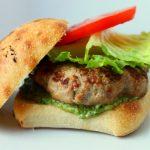 Turkey Burger with Caesar Pesto