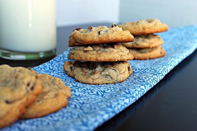 Chocolate Chip with Peanut Swirled Cookies