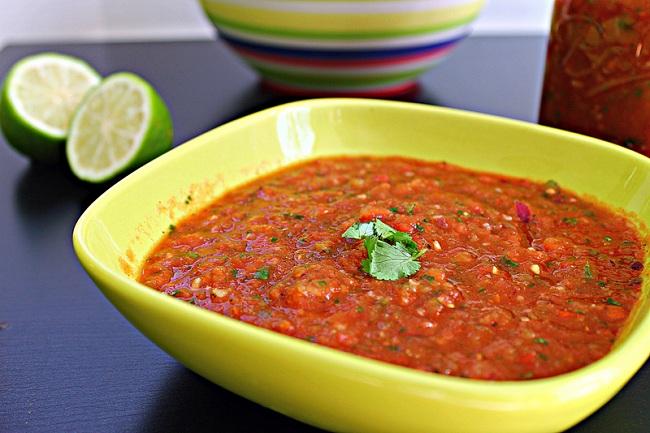 Fire Roasted Tomato Lime Salsa