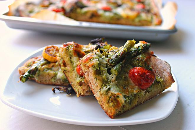 Roasted Vegetable Flatbread | Fabtastic Eats
