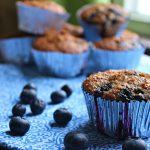Skinny Blueberry Oatmeal Muffins