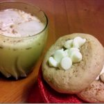 Eggnog Cookies with White Chocolate Topping