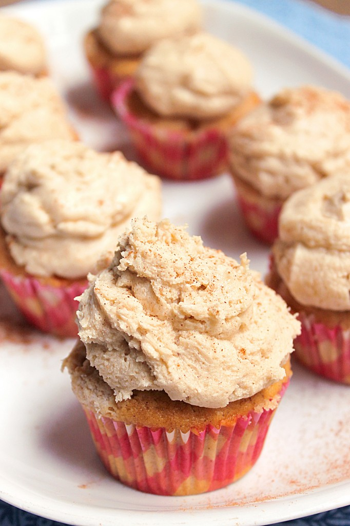 Snickerdoodle Cupcakes with Brown Sugar Buttercream