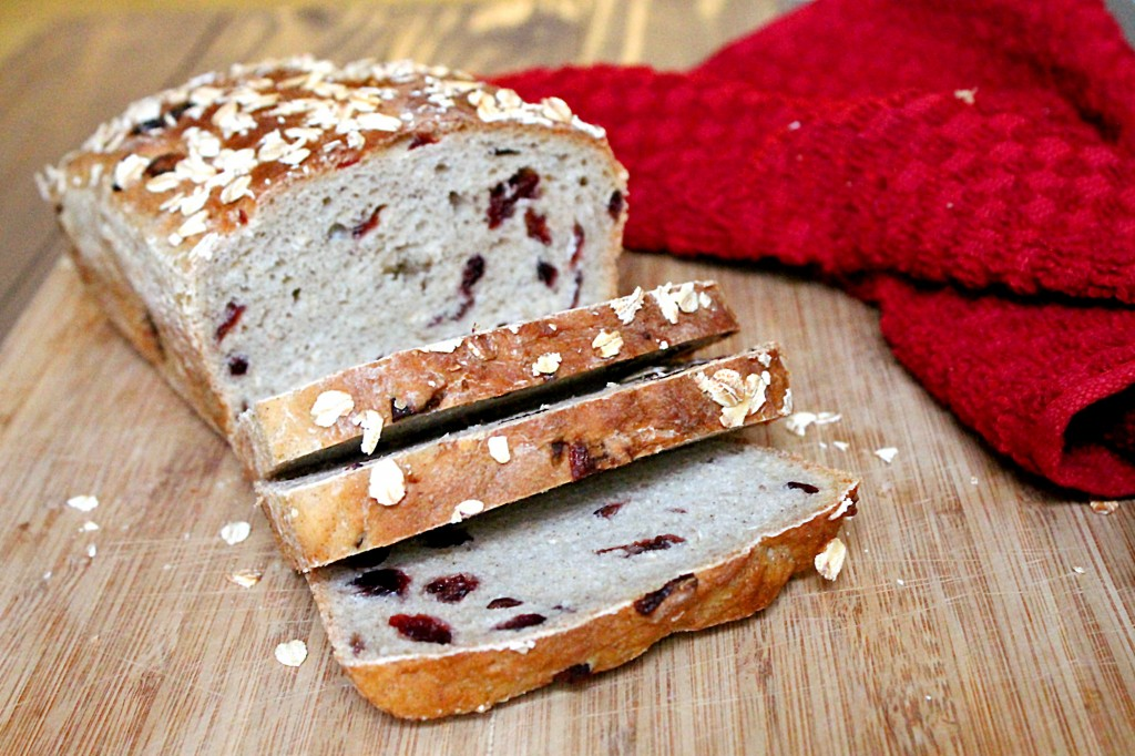 Cranberry Honey Oat Bread