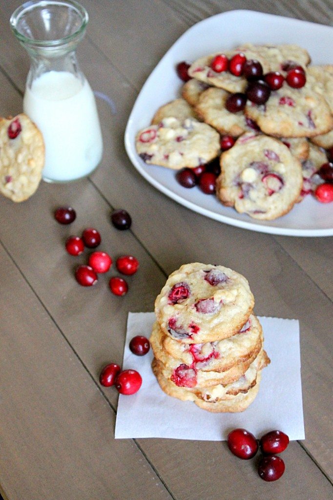 Cranberry White Chocolate Oat Cookies