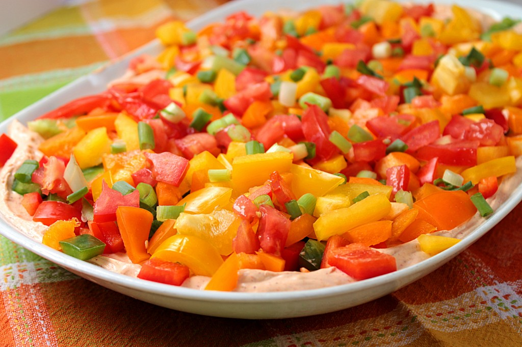Veggie Taco Dip - Fabtastic Life!