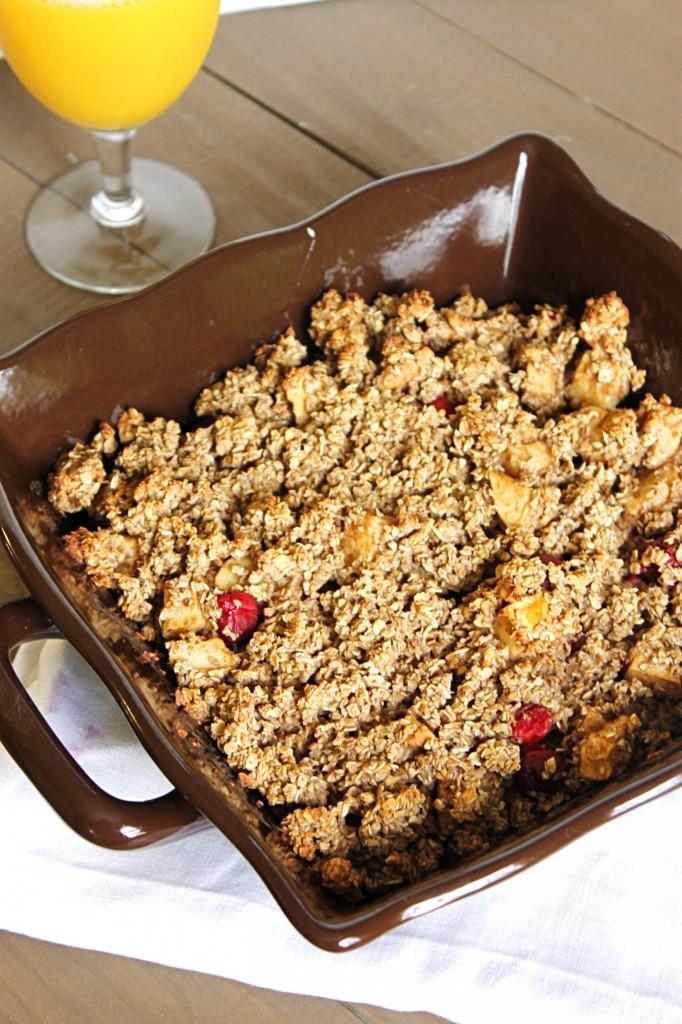 Apple-Cranberry Oatmeal Bake - Fabtastic Eats