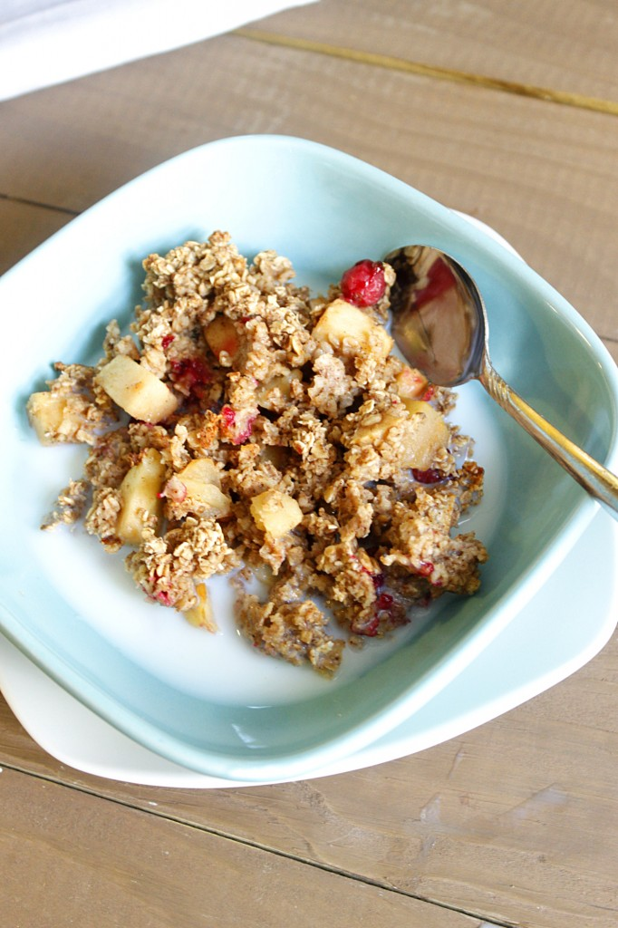 is bursting with cinnamon soft apples and fresh tart cranberries