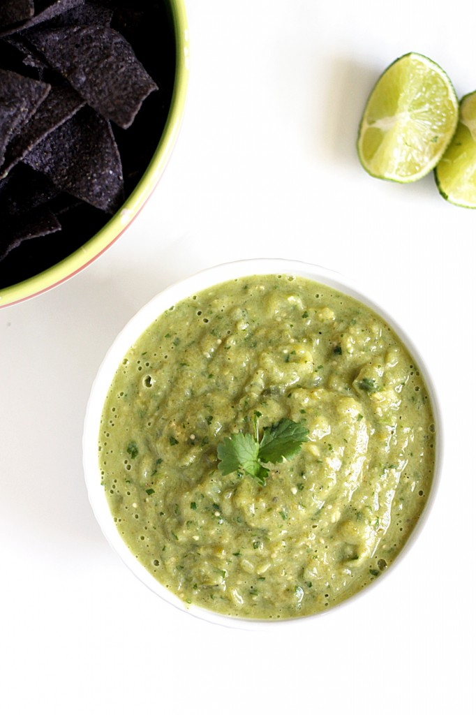Roasted Tomatillo and Avocado Salsa Verde - Fabtastic Life!