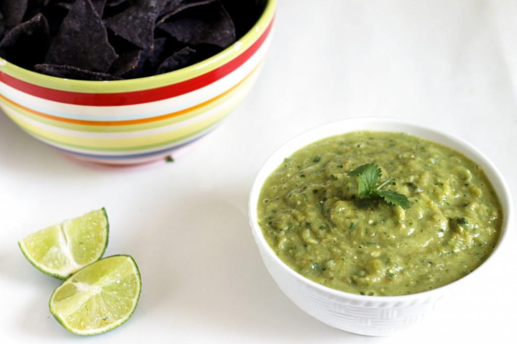 Roasted Tomatillo and Avocado Salsa Verde - Fabtastic Life!