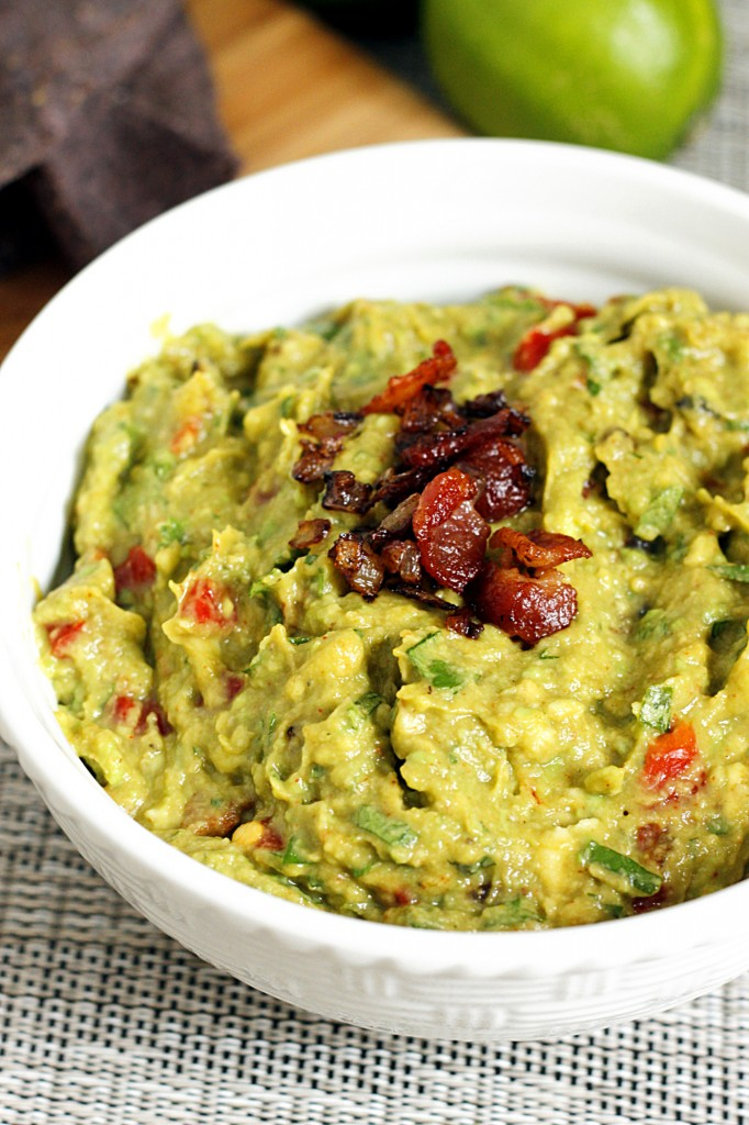 Roasted Garlic and Bacon Guacamole