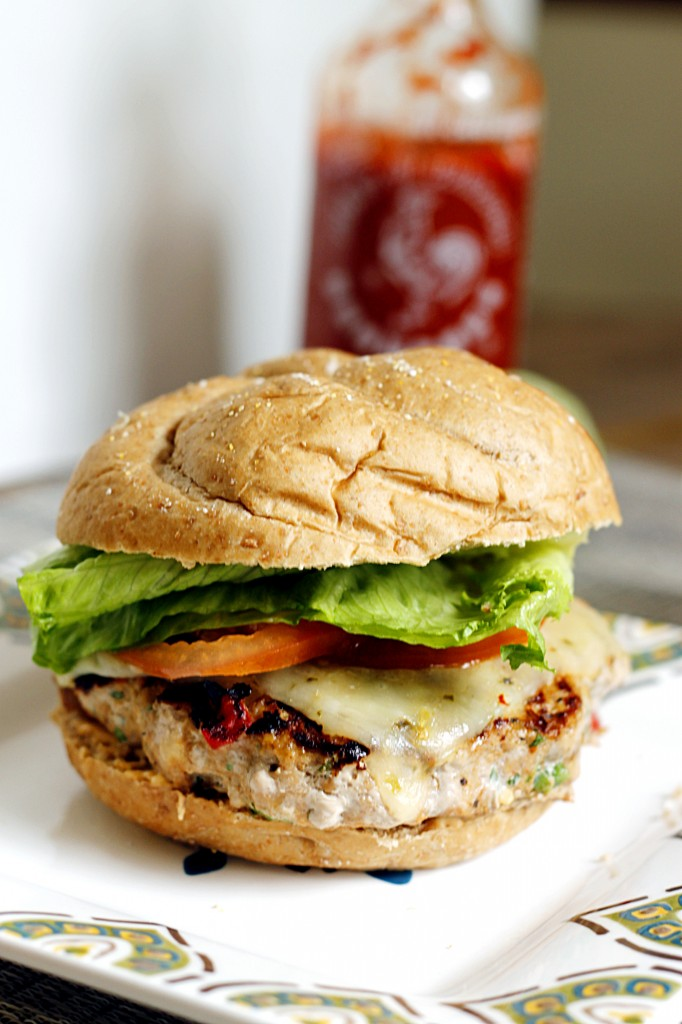 Southwestern Turkey Burger with a Sriracha Lime Spread - Fabtastic ...