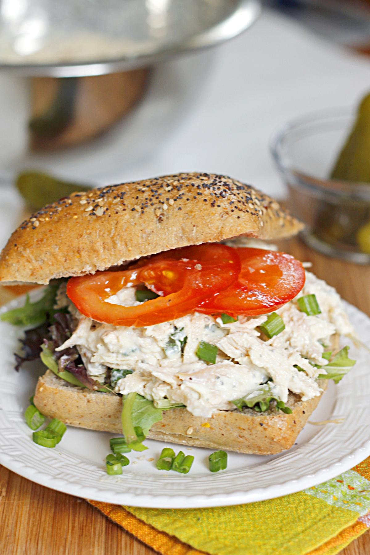 Lighter Ranch Chicken Salad Sandwich | Fabtastic Eats