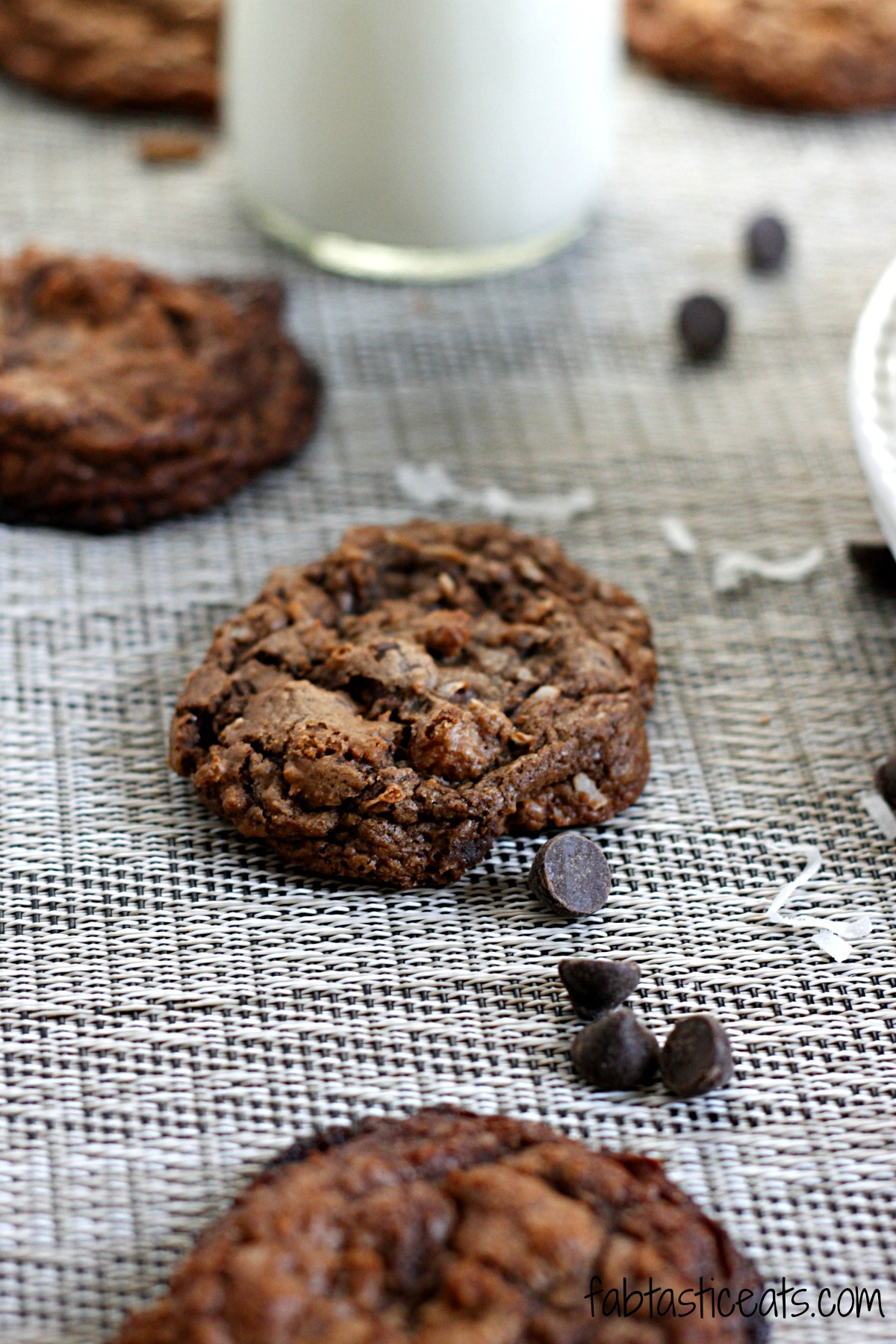 Espresso Caramel Coconut Dark Chocolate Cookies - Fabtastic Life!