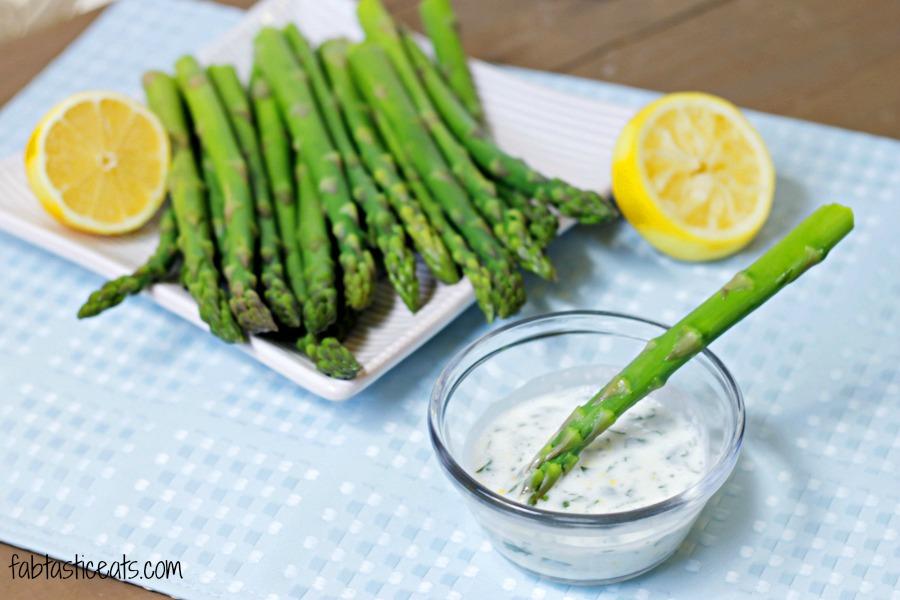 Asparagus with a Lemon-Garlic Dip - Fabtastic Life!