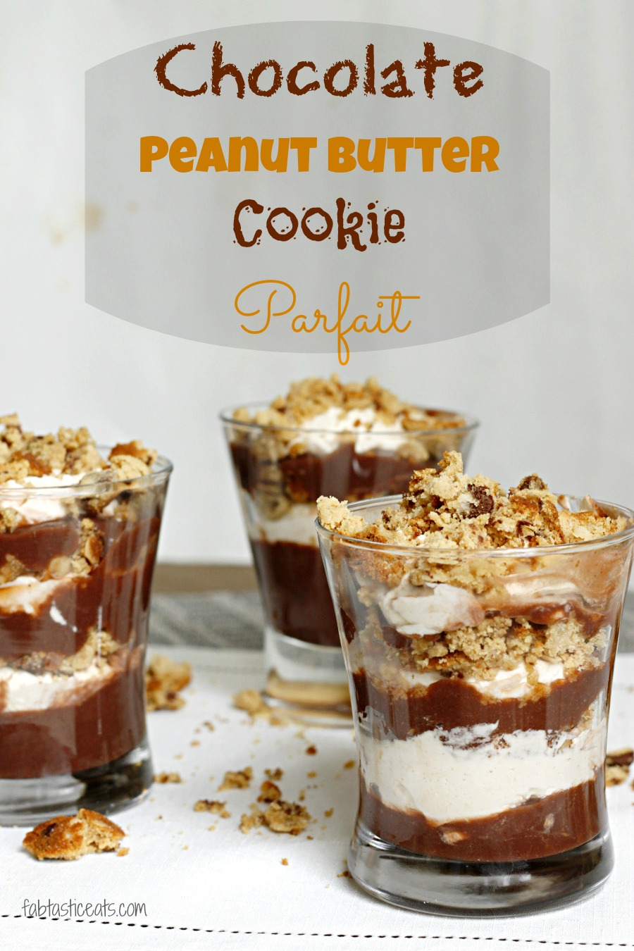 Chocolate Peanut Butter Cookie Parfait