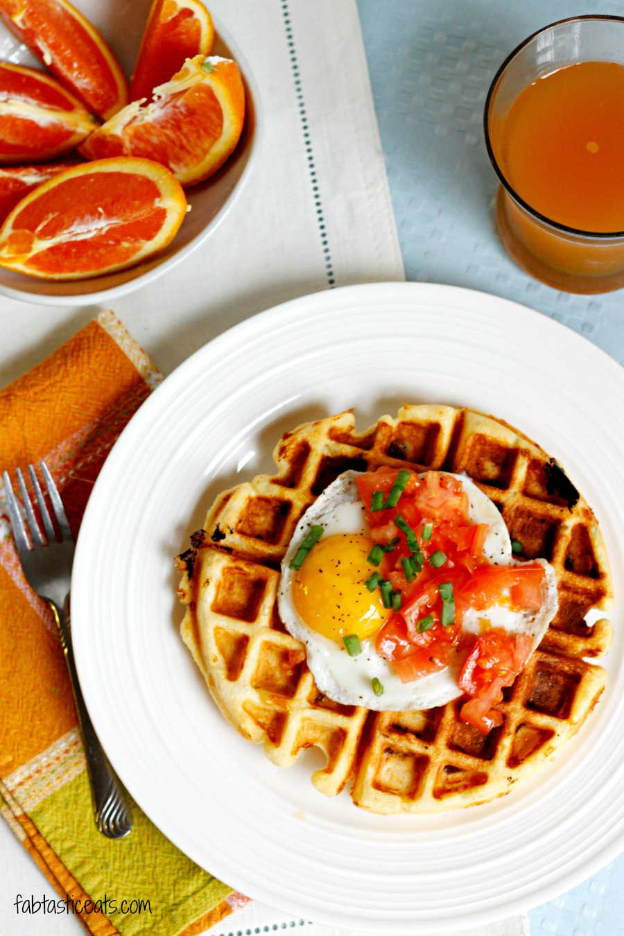 Cheddar Cornmeal Waffles with