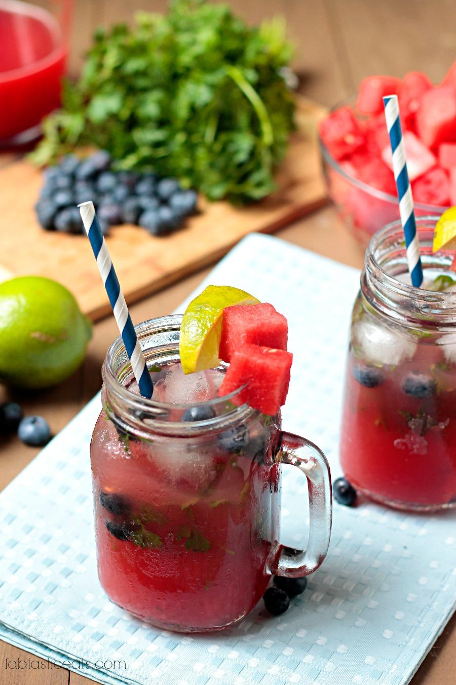 Boozy Blueberry & Herb Lemonade