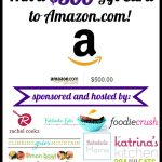$500 Amazon Gift Card Giveaway! {CLOSED}