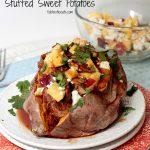 BBQ Pulled Pork & Nectarine Stuffed Sweet Potatoes