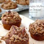 Cinnamon Pumpkin Muffins with a Pecan Streusel