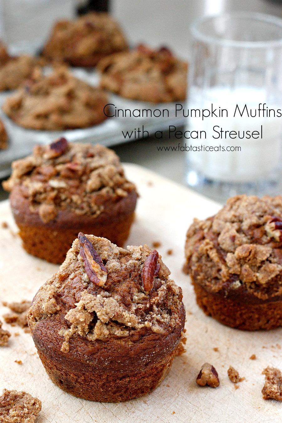 These Pumpkin Spice Muffins topped with a Pecan Streusel are the ...