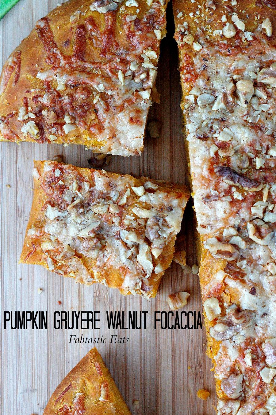 Pumpkin Gruyere Walnut Focaccia