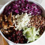 Cranberry, Pecan, and Gorgonzola Salad with Apple Cider Vinaigrette