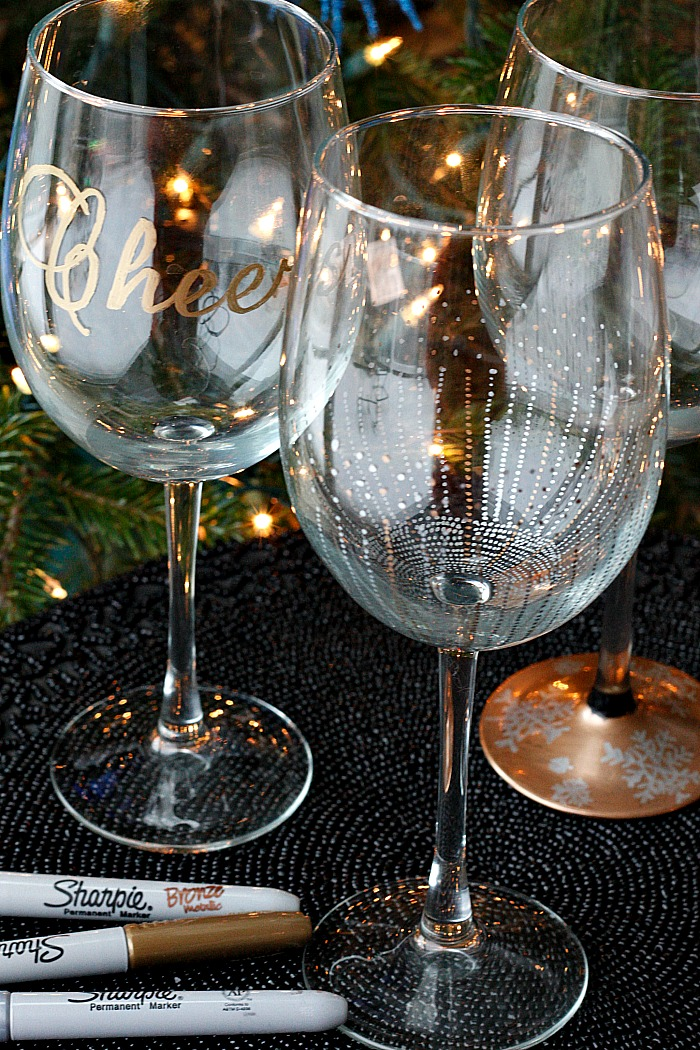diy wine glasses using sharpies fabtastic life