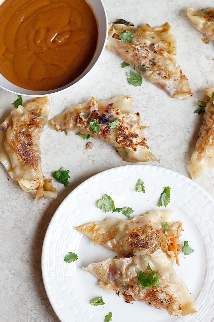 Spicy Pork Potstickers