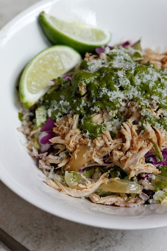 Pork Carnitas and Chimichurri Burrito Bowl - Fabtastic Life!