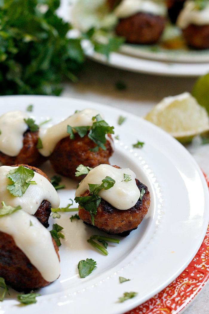 Tequila Lime Chorizo Meatballs