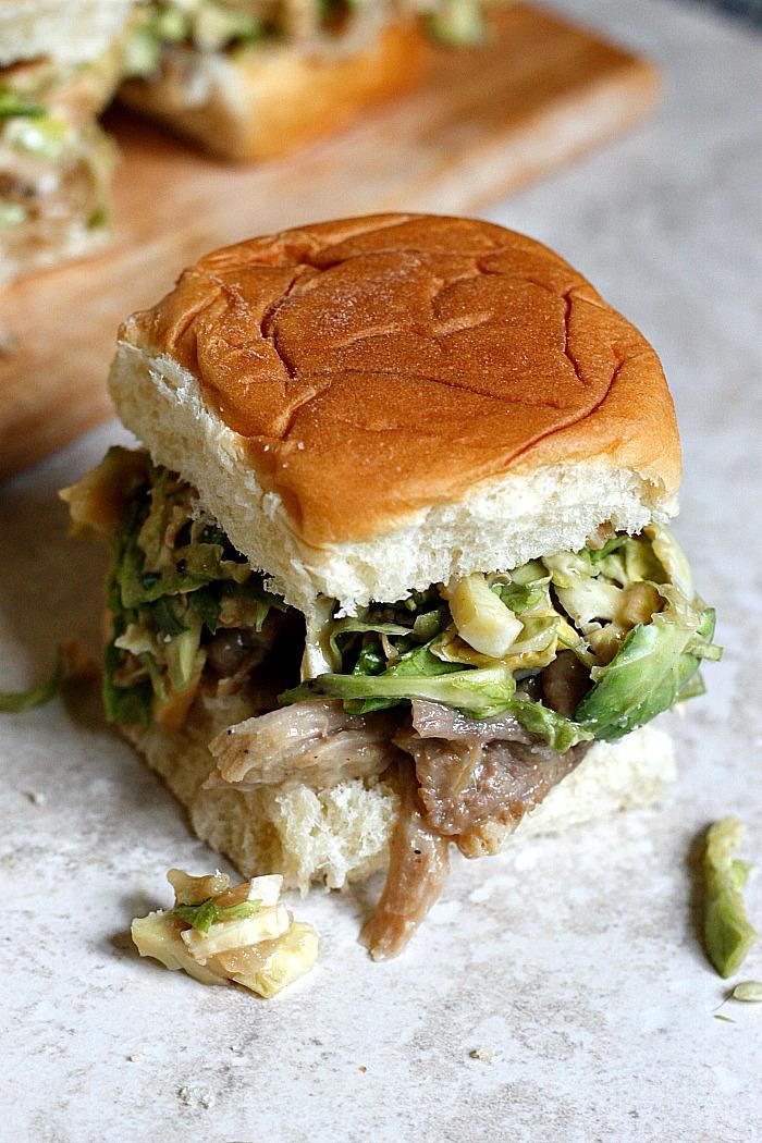 Maple Dijon Pulled Pork Sliders | Fabtastic Eats