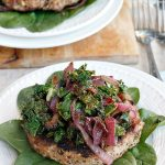 Quinoa Turkey Burgers with Caramelized Garlicky Kale and Onions