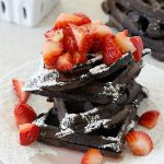 Chocolate Coconut and Strawberry Waffles