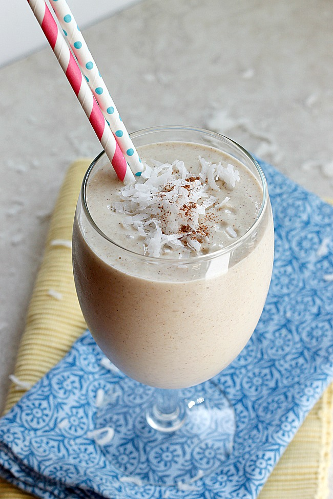 Tropical Coconut Oatmeal Smoothie