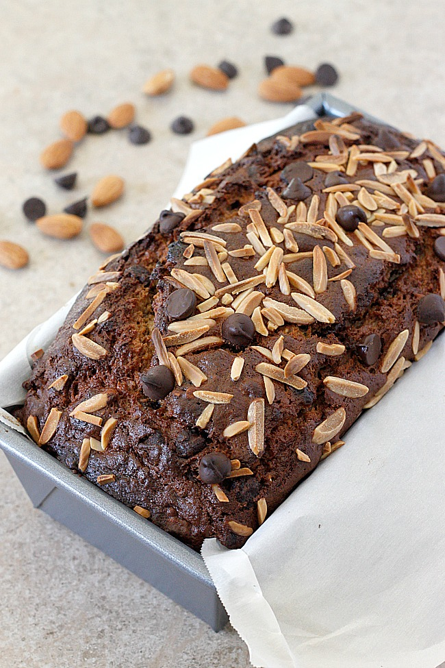 Almond Butter Chocolate Chip Banana Bread | Fabtastic Eats