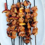 Grilled Thai Shrimp and Peaches