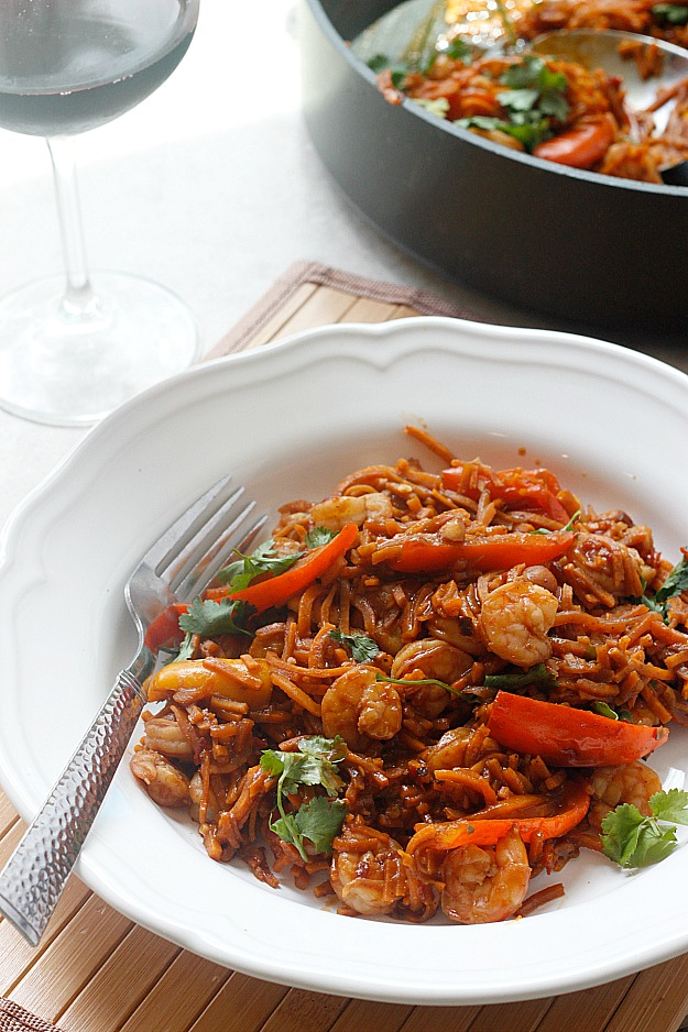 Spicy Chinese Shrimp and Sweet Potato Noodles - Fabtastic Life!