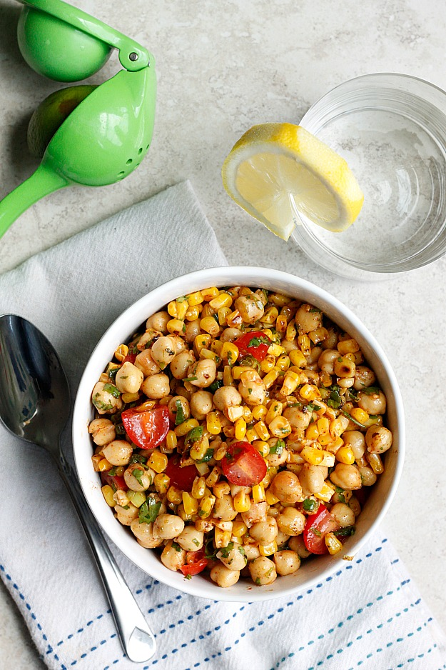 Chili-Lime Chickpea Salad - Fabtastic Life!