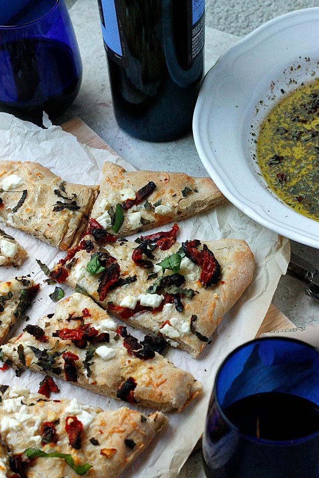 Sun-dried Tomato and Feta Focaccia | Fabtastic Eats