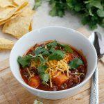 Sweet Potato, Black Bean, and Ground Sirloin Chili