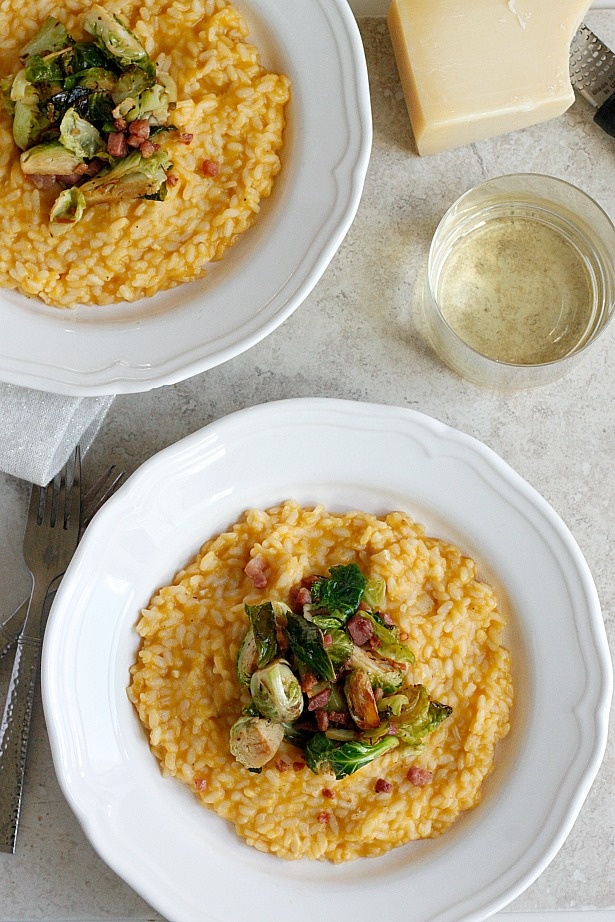 Butternut Squash Risotto with Pancetta and Brussels ...