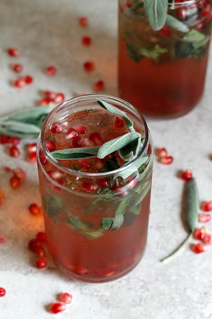 Pomegranate Ginger-Sage Smash | Fabtastic Eats