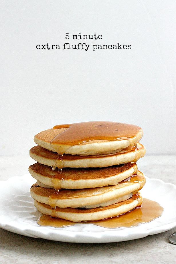 5 Minute Extra Fluffy Pancakes | Fabtastic Eats