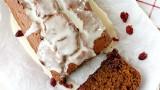 Pumpkin Cranberry Bread with a Cider Glaze | Fabtastic Eats